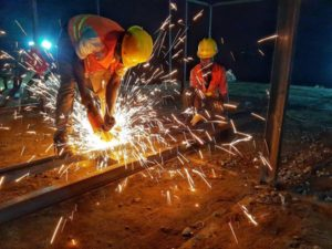 lgands modular apartments projects nigeria lg&s modular ltd 47 crew at work welding